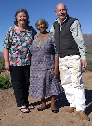 With very old and dear friends Evelyn and Frik